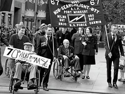 Photograph - Anzac Day March Mob Searchligh Bty by Miroslava Jurcik