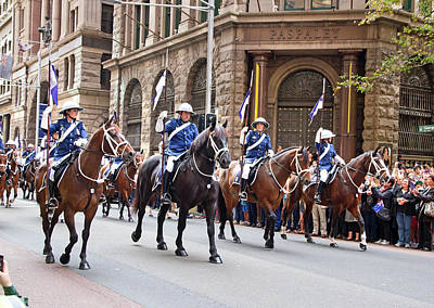 Photograph - Anzac Day March Mounted Unit Nsw by Miroslava Jurcik