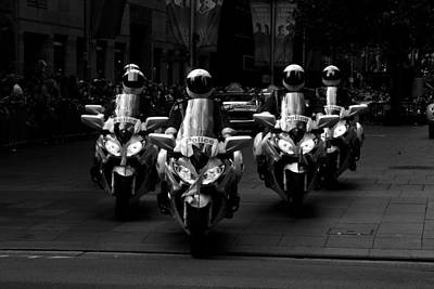 Photograph - Anzac Day March Police On Motorbikes by Miroslava Jurcik