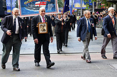 Photograph - Anzac Day March -  Remembering Hmas Quiberon Heroes by Miroslava Jurcik