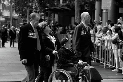 Photograph - Anzac Day March - Scrap Iron Flotilla Veterans by Miroslava Jurcik