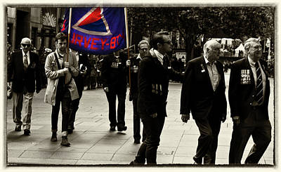 Photograph - Anzac Day March - Survey Bty by Miroslava Jurcik