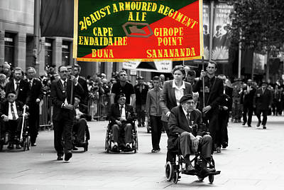 Photograph - Anzac Day March The 2/6th Armoured Regiment by Miroslava Jurcik