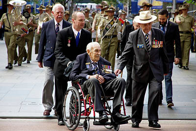 Photograph - Anzac Day March Ww2 Merchants We Admire And Respect by Miroslava Jurcik