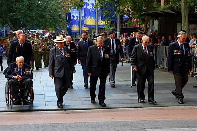 Photograph - Anzac Day March Ww2 Navy Merchants Heros by Miroslava Jurcik