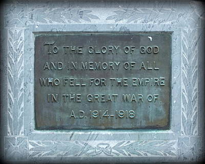 Photograph - Anzac Memorial Plaque by Guy Pettingell
