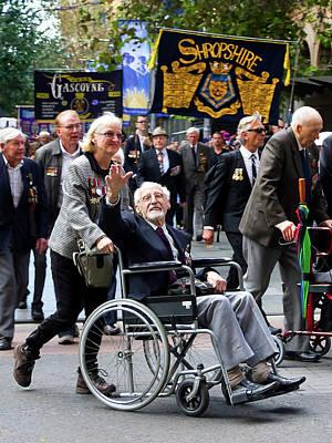 Photograph - Anzac Parade Hero's Wave by Miroslava Jurcik