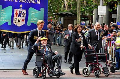 Photograph - Anzac Parade Navy Veterans by Miroslava Jurcik