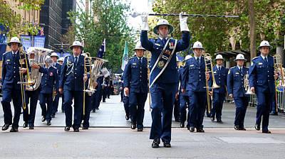 Marching Band Photograph - Anzac Parade - Nsw Police Band by Miroslava Jurcik