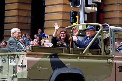 Photograph - Anzac Parade War Vets Were Medals On The Left by Miroslava Jurcik