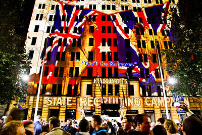 Photograph - Anzac Pictures Projected In Martin Place 10 by Miroslava Jurcik