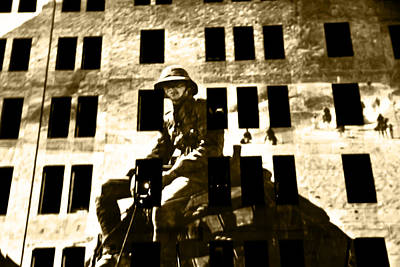 Photograph - Anzac Pictures Projected In Martin Place 14 by Miroslava Jurcik