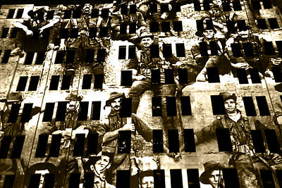 Photograph - Anzac Pictures Projected In Martin Place 15 by Miroslava Jurcik