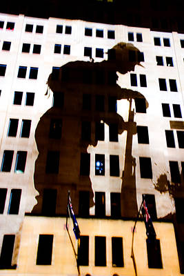 Photograph - Anzac Pictures Projected In Martin Place  2 by Miroslava Jurcik