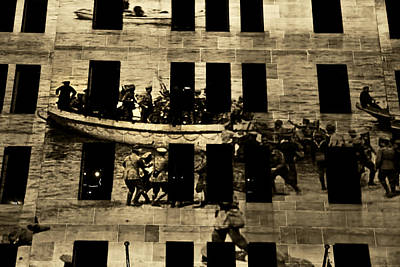 Photograph - Anzac Pictures Projected In Martin Place 20 by Miroslava Jurcik
