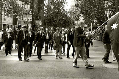 Photograph - Anzac Day March Vets Of 14th Regiment Aif by Miroslava Jurcik