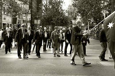Photograph - Anzac Day March Vets Of 14th Regiment Aif by Miroslava Jurcik