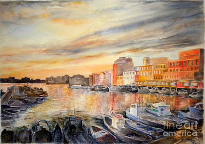 Painting - Anzio Harbor by Madie Horne
