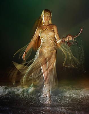 Fantasy Digital Art Royalty Free Images - Aoife Royalty-Free Image by Karen Koski