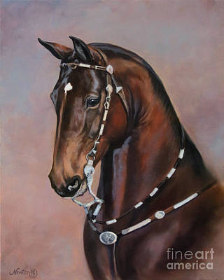Morgan Horse Painting - Aom Shadow Chaser by Jeanne Newton Schoborg