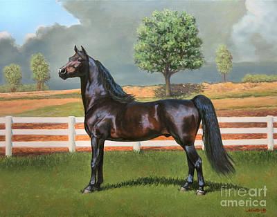 Morgan Horse Painting - Aom Sundays' Magic by Jeanne Newton Schoborg