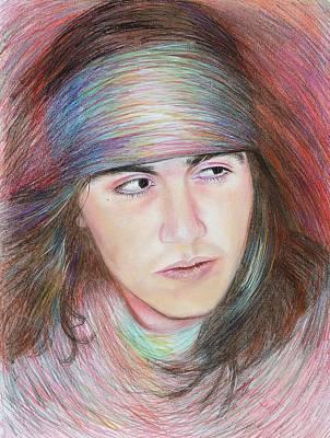 Apache Drawing - Apache Boy by Elizabeth Silk