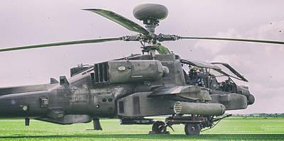 Cockpit Photograph - Apache Gunship by Martin Newman