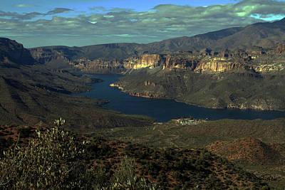 Apache Lake Photograph - Apache Lake Overview by David Salter