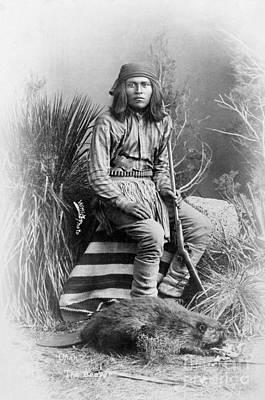 Photograph - Apache Leader, 1885 by Granger
