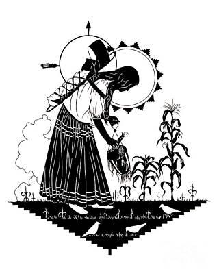 Painting - Apache Madonna - Dpapm by Dan Paulos