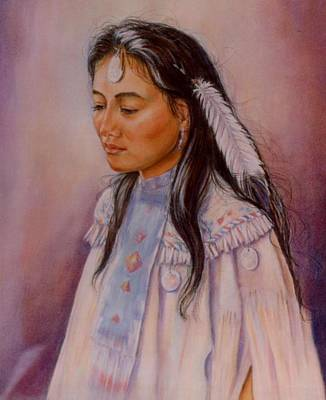 Indian Maiden Painting - Apache Maiden by Ann Peck