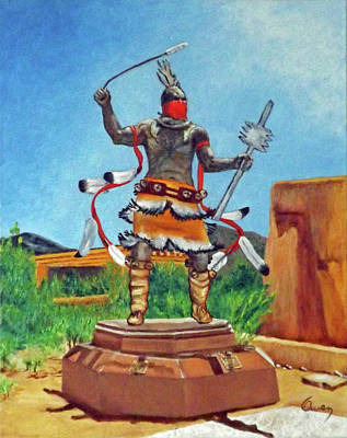Painting - Apache Mountain Spirit Dancer by Carl Owen