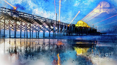 Digital Art - Apache Pier Digital Watercolor by David Smith