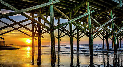 Photograph - Apache Pier Sunrise by David Smith
