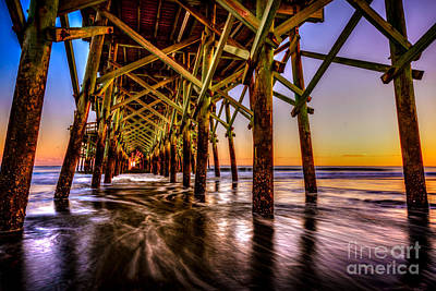 Photograph - Apache Pier Sunset by David Smith