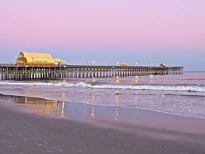 Apache Pier Sunset Art Print