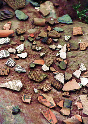 Art Print featuring the photograph Apache Pottery Shards by Juls Adams