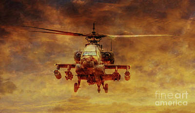 Apache Sunset Art Print by Randy Steele