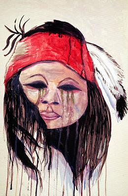Painting - Watercolor Painting Of Apache Tears By Ayasha Loya by Ayasha Loya