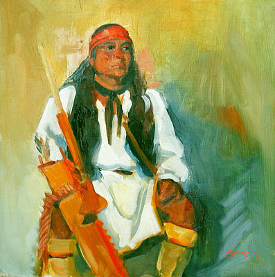 Painting - Apache Urban Warrior by Suzanne Giuriati-Cerny
