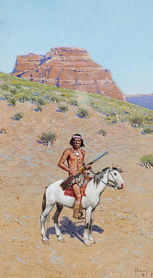 Apache Warrior Painting - Apache Warrior by Henry Farny