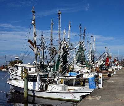 Photograph - Apalachicola Shrimp Boats by Carla Parris