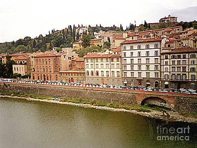 Photograph - Apartment Houses Along The Arno River In Florence, Italy by Merton Allen