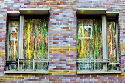 Brick Buildings Photograph - Apartment Window by Tom Gowanlock