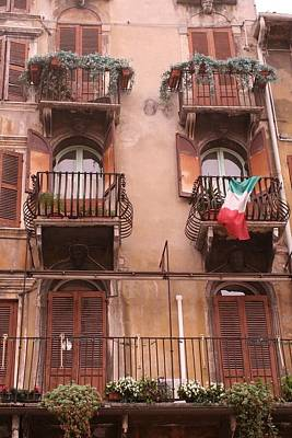 Photograph - Apartments Overlooking The Streets Of Verona by Greg Sharpe