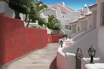 Apartments San Blas Tenerife Art Print by Aleck Rich Seddon