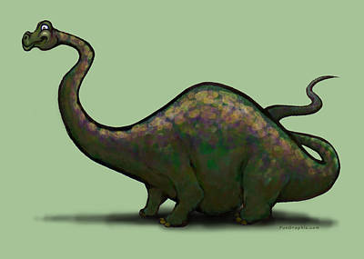 Apatosaurus  Art Print by Kevin Middleton