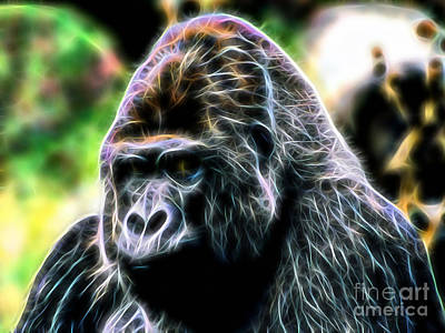 Gorilla Mixed Media - Ape Collection by Marvin Blaine