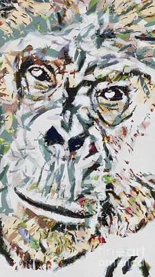 Painting - Ape Fragmented by Catherine Lott