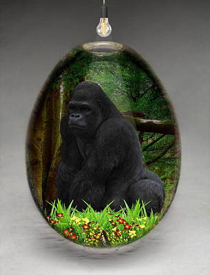 Mixed Media - Ape Gorilla Art by Marvin Blaine